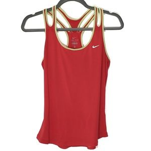 Nike Dri-Fit Racerback Coral Workout Tank Top, Med
